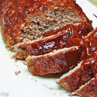 Meatloaf with Sweet-Spicy Glaze - Savoring Today (1 of 1)
