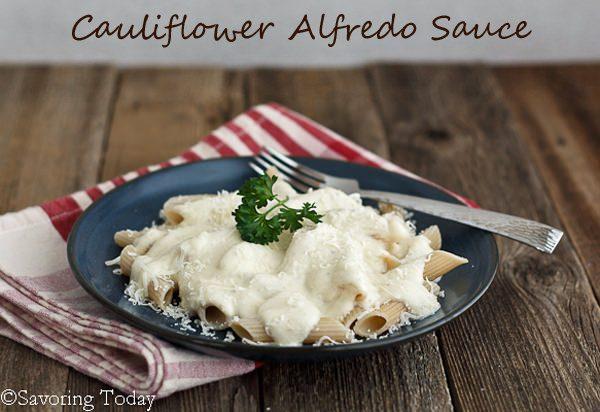 Cauliflower Alfredo Sauce Served |Savoring Today