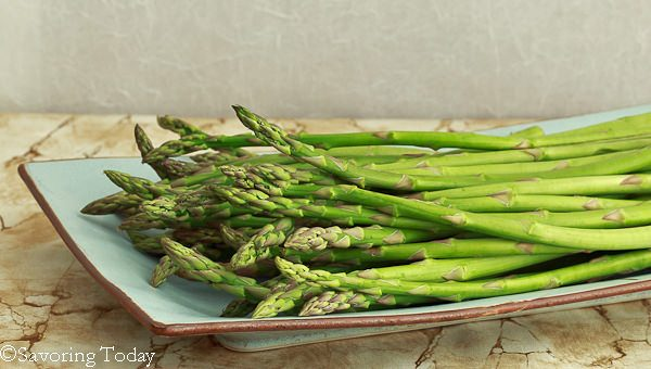 Hoisin-Sesame Grilled Asparagus - raw | Savoring Today