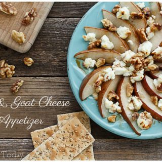 Pear & Goat Cheese Appetizer: Easy and Elegant