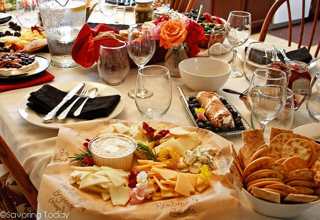 Cheese tray for wine & cheese party