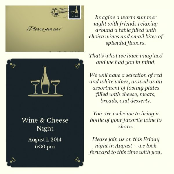 Wine & Cheese Party Invitation