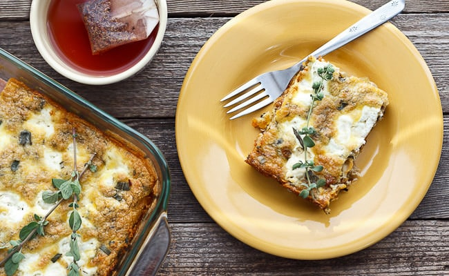 Butternut Squash Quiche with Italian Sausage and Sage