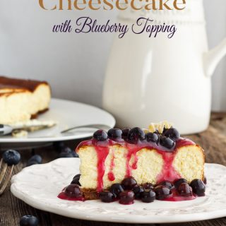 New York-Style Cheesecake with Blueberry Topping