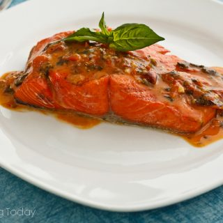 Tomato-Basil Salmon and the 5 Best Fish Grilling Tips