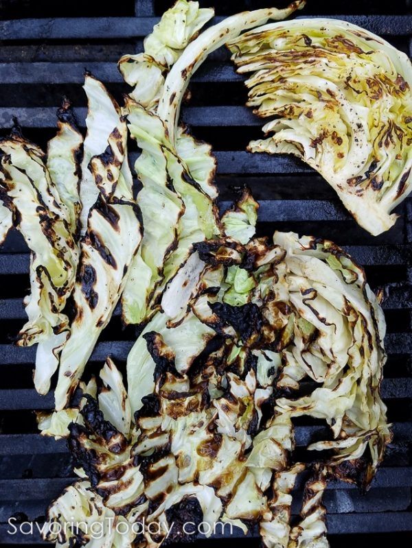 Grilled Cabbage with Caesar Dressing for easy summer side dishes from the grill.