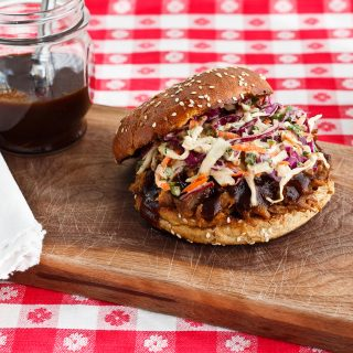 Grilled pulled pork that tastes close to classic barbecue. Get smoky flavor from a gas or charcoal grill.