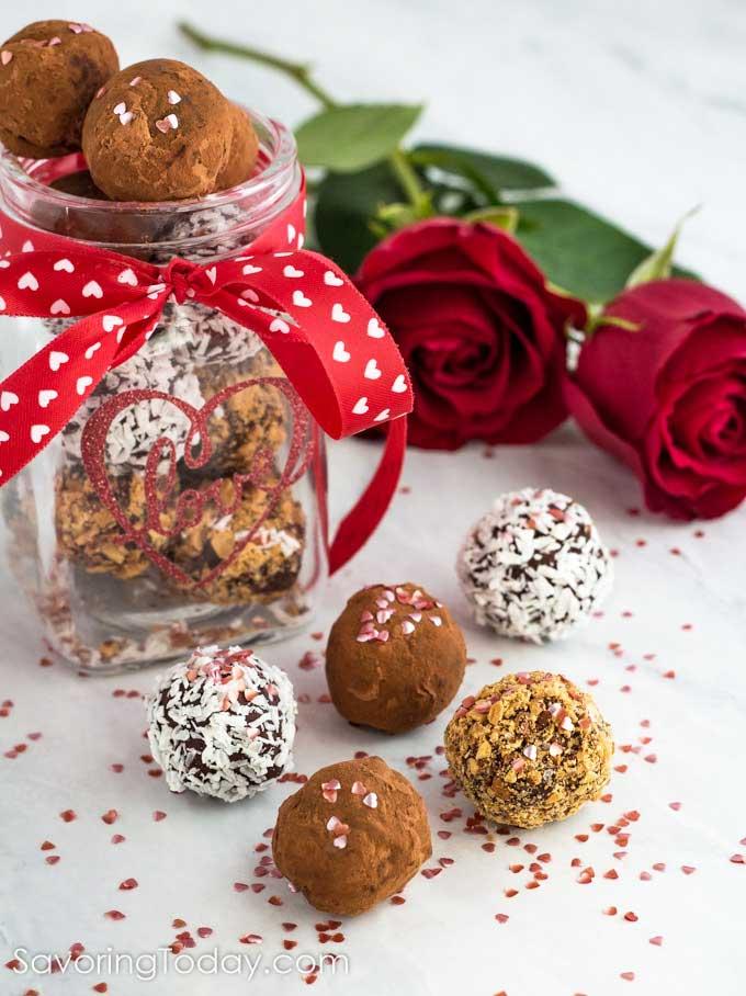 Easy Valentine S Day Chocolate Truffles Recipe Savoring Today